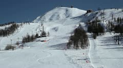 Sestriere Skiing 02 Stock Footage