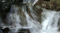 Glacier waterfall - stock footage