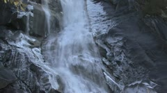 Icy glacier waterfall Stock Footage