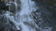 Stock Video Footage of Icy glacier waterfall