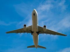 Airplane take off Stock Photos
