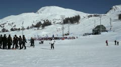 Sestriere Skiing 01 Stock Footage