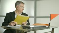 businessman with a headache - stock footage