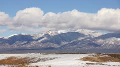 Taos Mountains near Taos New Mexico Stock Footage