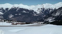 Courchevel Altiport Airport France Stock Footage