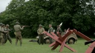 US and German soldiers discuss truce Stock Footage