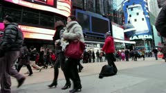 Dancer performing in streets of Times Square Stock Footage