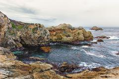 Point Lobos Natural Reserve Water Feature Stock Photos