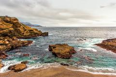 Point Lobos Natural Reserve Water Feature - stock photo