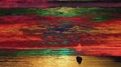 Sunset Psychedelic Beach #1 - stock footage