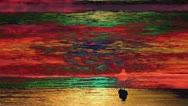 Sunset Psychedelic Beach #1 Stock Footage