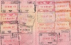 Passport. Passport control at the customs - stock photo