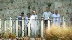 Muslims Going to Friday Prayer - Jerusalem Stock Footage