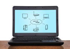 Computer network concept Stock Photos