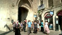 Streets of the Old City of Jerusalem 2 Stock Footage