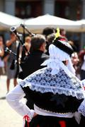 traditional spanish clothes in madrid - stock photo