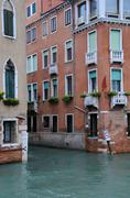 Intersection of canals in venice Stock Photos