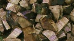 Log Pile Stock Footage