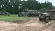 Stock Video Footage of US Military advance on the battlefield