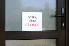 sorry, we are closed - stock photo