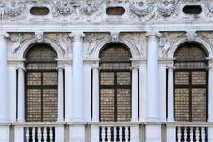 Windows of national library of st mark's Stock Photos