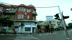 653 a street in Tel-Aviv in the afternoon in stop motion Stock Footage