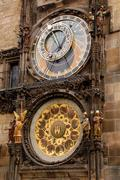 astronomical orloy clock in prague - stock photo