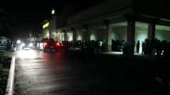 Black Friday Shoppers Midnight Line Best Buy Stock Footage
