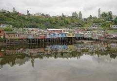 castro on chiloe island, chile - stock photo