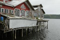 Castro on chiloe island, chile Stock Photos