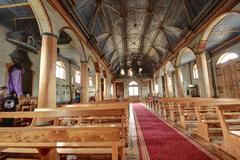 Stock Photo of chiloe chile - wooden church
