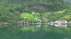 Norway Flam head of fjord s Stock Footage