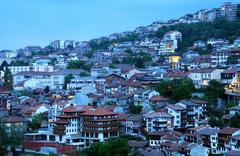 early evening in veliko tarnovo - stock photo