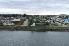 Aerial view of puerto natales, patagoinia chile Stock Photos