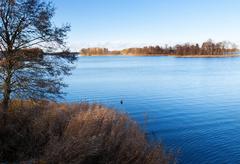Stock Photo of blue lake