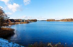 View of lake galve Stock Photos