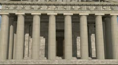 Parthenon Front View Daytime Stock Footage