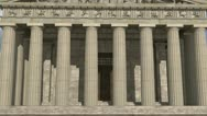 Stock Video Footage of Parthenon Front View Daytime