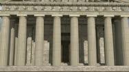 Parthenon Front View Daytime Stock Footage