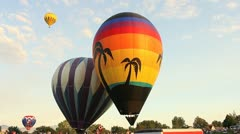 Various balloons in the air - stock footage
