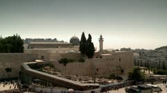 Dome of a Mosque at the Temple Mount Stock Footage