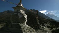 Stupa and Mt. Everest Stock Footage