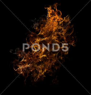 Stock photo of fire flames