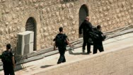 Stock Video Footage of Israeli Policemen - Jerusalem 2