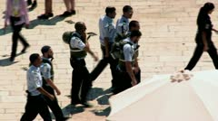 Israeli Policemen - Jerusalem 3 Stock Footage