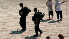 Israeli Policemen - Jerusalem 5 Stock Footage