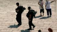 Stock Video Footage of Israeli Policemen - Jerusalem 5