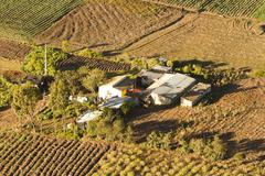 Small Farm In Ecuadorian Andes Aerial View Stock Photos