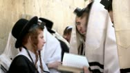 Stock Video Footage of Jewish Prayers at the Western Wall 3