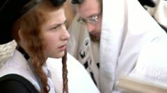 Jewish Prayers at the Western Wall 4 - stock footage